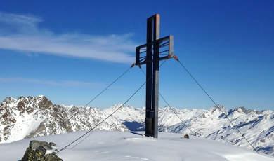 Skitourentipps in der Umgebung von Ischgl - Heidelberger Scharte (Spitze)